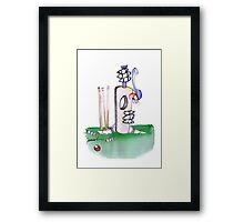 England Cricket batting lesson - tony fernandes Framed Print