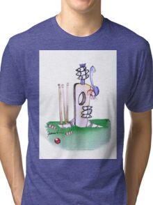 England Cricket batting lesson - tony fernandes Tri-blend T-Shirt