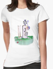 England Cricket batting lesson - tony fernandes Womens Fitted T-Shirt