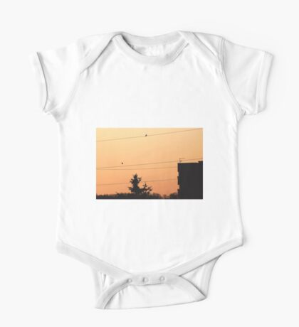 Birds on the wire One Piece - Short Sleeve