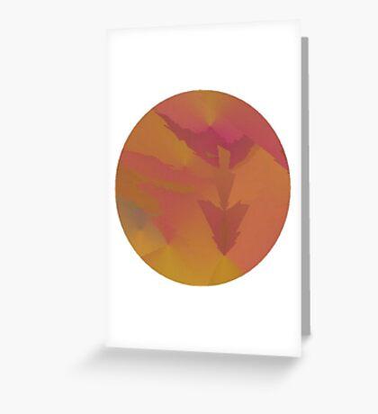 Purple Arrows Sky Greeting Card
