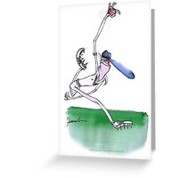 England Cricket bowler - tony fernandes Greeting Card