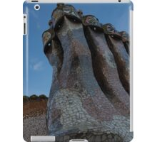 Capricious Trencadis Mosaics - Antoni Gaudi's Chimney Group at Casa Batllo in Barcelona iPad Case/Skin