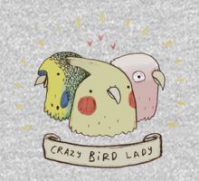 Crazy Bird Lady One Piece - Short Sleeve