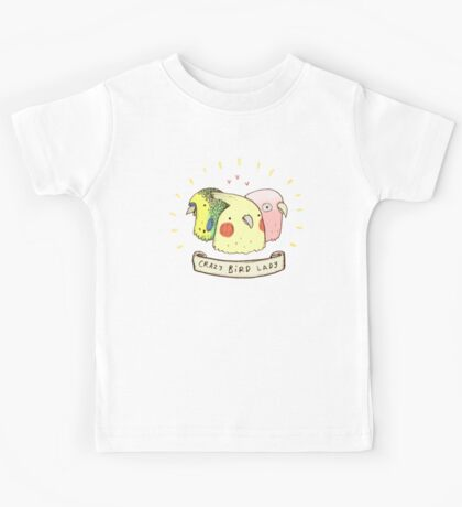Crazy Bird Lady Kids Tee
