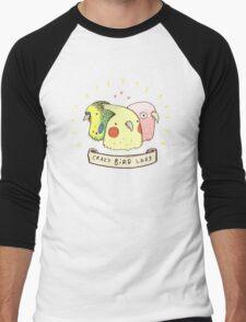 Crazy Bird Lady Men's Baseball ¾ T-Shirt