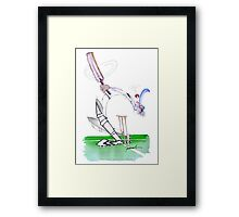 England Cricket eye on the ball - tony fernandes Framed Print