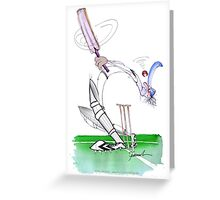 England Cricket eye on the ball - tony fernandes Greeting Card