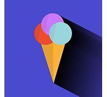 Classic Ice Cream Cone Photographic Print