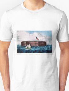 Fort Sumter - Charleston Harbor, S.C. - 1870 Unisex T-Shirt