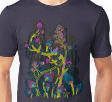 neon magic mushrooms Unisex T-Shirt