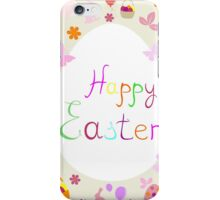 bright Easter greeting card,vector illustration iPhone Case/Skin