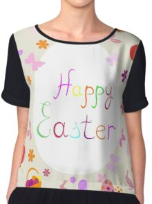 bright Easter greeting card,vector illustration Chiffon Top