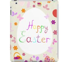 bright Easter greeting card,vector illustration iPad Case/Skin
