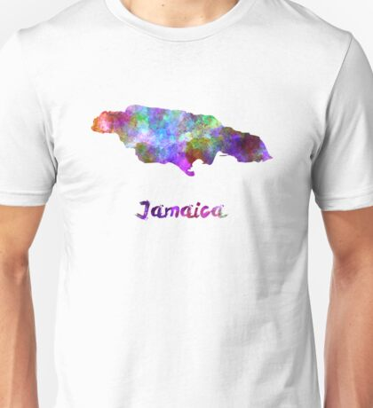 Jamaica in watercolor Unisex T-Shirt