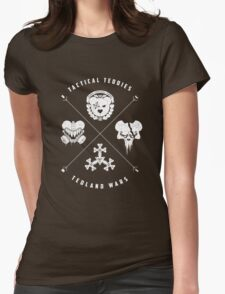 Tedland Wars Tee (White Print) Womens Fitted T-Shirt