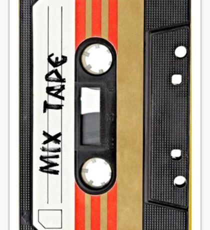 Awesome Music Cassete Tape Sticker