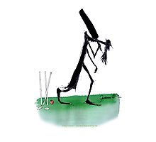 Cricket old father time - tony fernandes Photographic Print