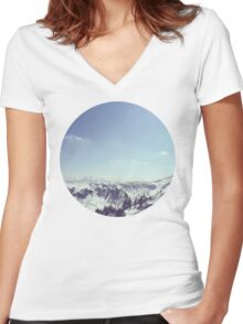The alps 2 Women's Fitted V-Neck T-Shirt