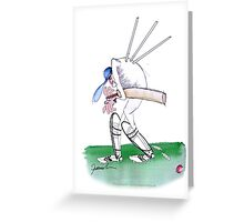 England Cricket duck - tony fernandes Greeting Card