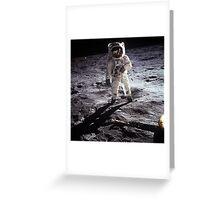 moon landing apollo 11 nasa buzz aldrin 1969 Greeting Card