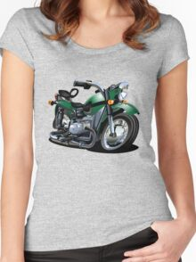 Cartoon Motorcycle Women's Fitted Scoop T-Shirt
