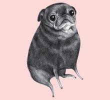 Sweet Black Pug Baby Tee