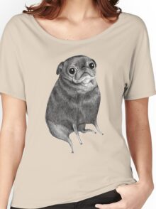 Sweet Black Pug Women's Relaxed Fit T-Shirt