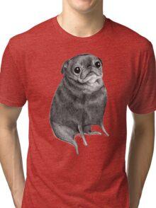 Sweet Black Pug Tri-blend T-Shirt