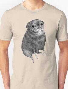 Sweet Black Pug Unisex T-Shirt