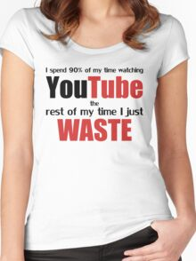 Watching YouTube Women's Fitted Scoop T-Shirt