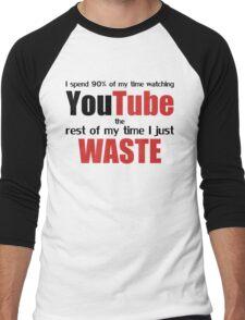Watching YouTube Men's Baseball ¾ T-Shirt