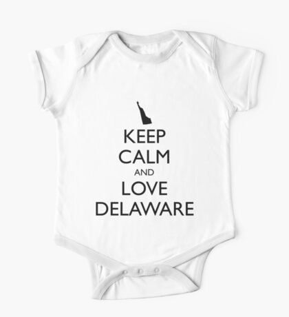 KEEP CALM and LOVE DELAWARE One Piece - Short Sleeve