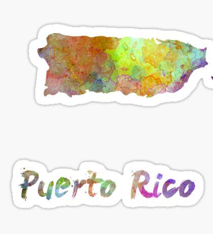 Puerto Rico  in watercolor Sticker