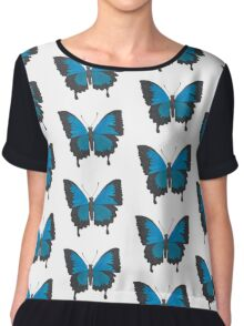 Male Ulysses Butterfly Design Chiffon Top