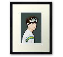 BTS V in Goggles  Framed Print