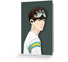 BTS V in Goggles  Greeting Card