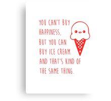 Ice cream happiness Canvas Print