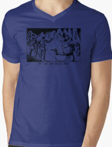 They come from another world! Sci-fi Pop Art Mens V-Neck T-Shirt