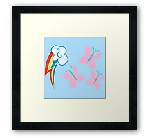 My little Pony - Rainbow Dash + Fluttershy Cutie Mark Framed Print