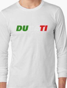 DUCATI MONSTER ITALIAN FLAG Long Sleeve T-Shirt