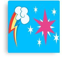 My little Pony - Rainbow Dash + Twilight Sparkle Cutie Mark Canvas Print