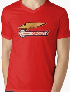 DUCATI VINTAGE LOGO BADGE Mens V-Neck T-Shirt