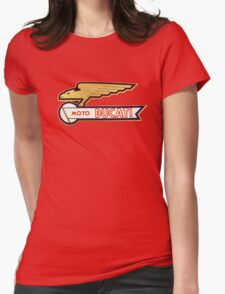 DUCATI VINTAGE LOGO BADGE Womens Fitted T-Shirt