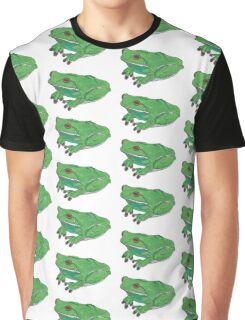 Green Tree Frog Design Graphic T-Shirt