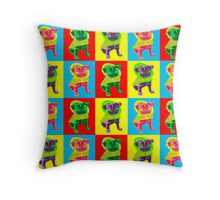Puggy Love Throw Pillow