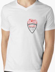 VINTAGE DUCATI LOGO Mens V-Neck T-Shirt