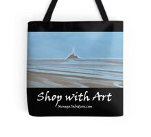 Tide in the Bay of Mont Saint Michel - Shop with Art Tote Bag
