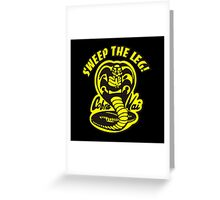 Sweep the leg Greeting Card