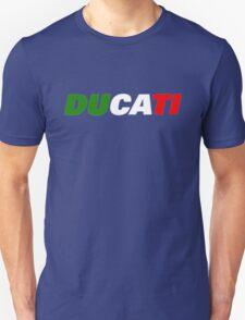 DUCATI ITALIAN FLAG Unisex T-Shirt